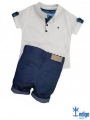 Conjunto Camisa Bata Infantil Menino Dubai Índigo Trend 22965d3e23138