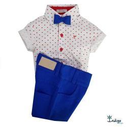 Conjunto Camisa Social Barcelona Vermelho Menino ... 1c0f7315ec201