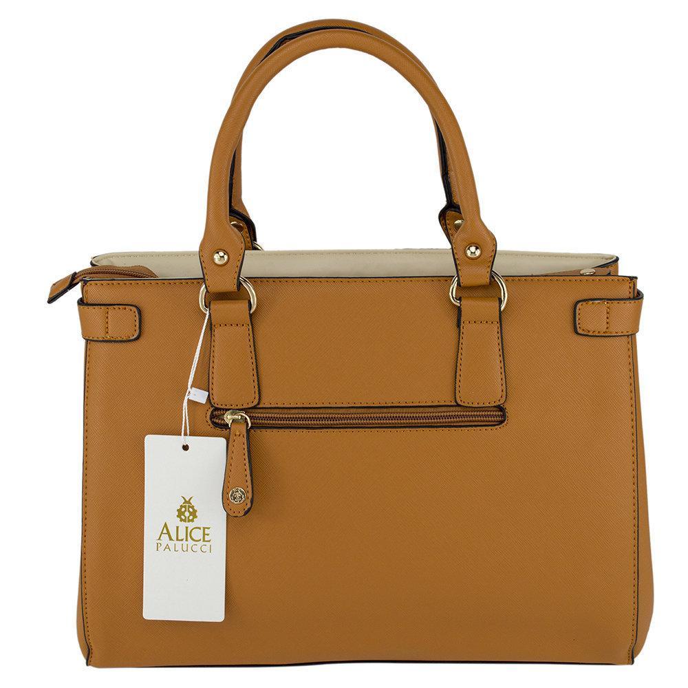 4bdc144be4 Bolsa Alice Palucci AL5627 produzida em couro ecológico. Abertura ...