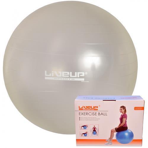 Bola Suiça Para Pilates - 65 Cm Cinza - Liveup 3c5ec9d349418