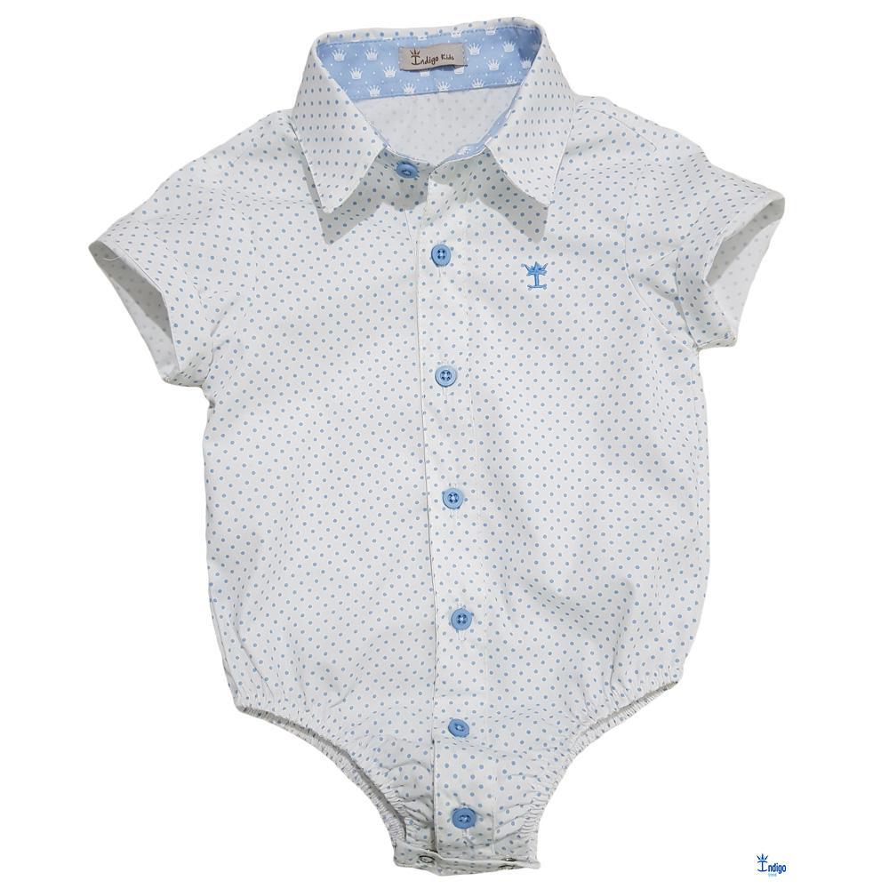 b268890836 Camisa Social Infantil Menino Alemanha Índigo Trend   Camisa Social ...