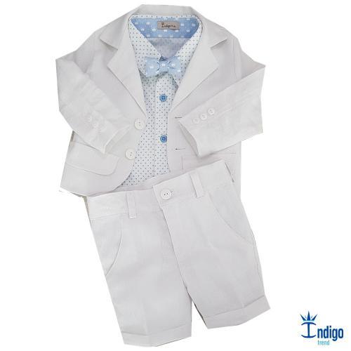 c9b25e947e Conjunto Camisa Social Infantil Menino Linho Alemanha Índigo Trend ...