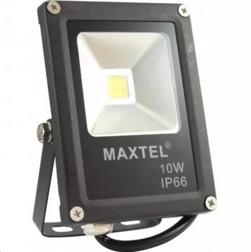 REFLETOR LED 10W HOLOFOTE MAXTEL IP66 BIVOLT BRANCO QUENTE