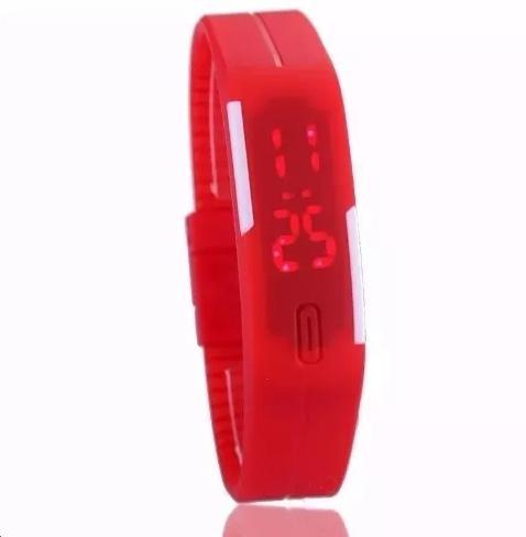 258980f3e90 Relógio Pulseira Silicone   Digital Led   Vermelho Top   Pague Apenas o  Frete