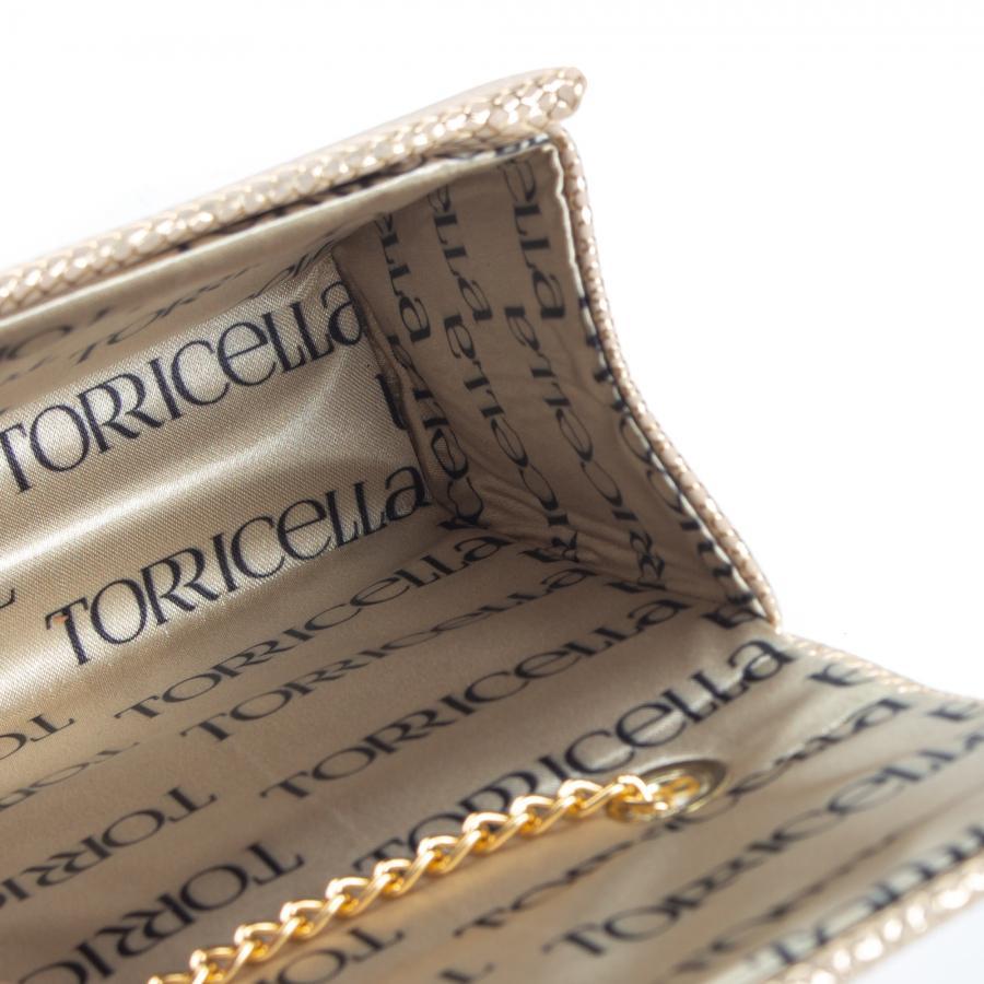 567efd4ebf Bolsa Clutch Torricella (Cor  Bege com Fios Dourados). Descrição. Bolsa  clutch feminina confeccionada em ...