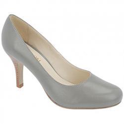 3ddc7914bd Sapato Retrô Bico Redondo 2 Opções de Salto (Cor do modelo  Pólvora) -