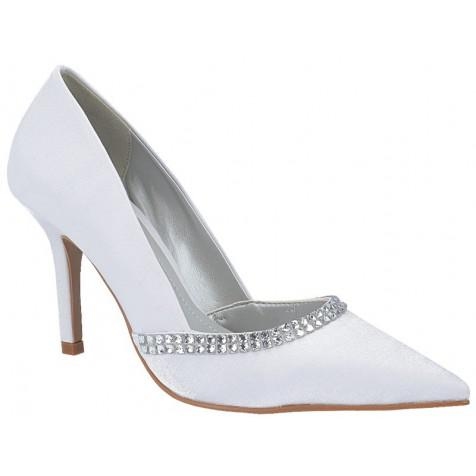 f47da46f2 Sapato de Festa Sola Clássica Salto 9cm (Cor do modelo: Cristal Branco) ...