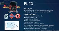 Pressurizador de Água LORENZETTI PL 20 (20mca) 127/220 V