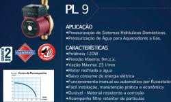 Pressurizador de Água Lorenzetti  PL 9 (9mca) 127/220 V