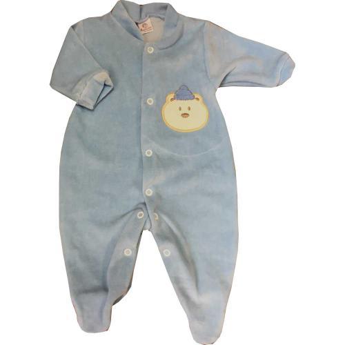 78c029fa3 Roupa Bebê Menino em Plush Ursinho Azul.Tamanho RN ao P.