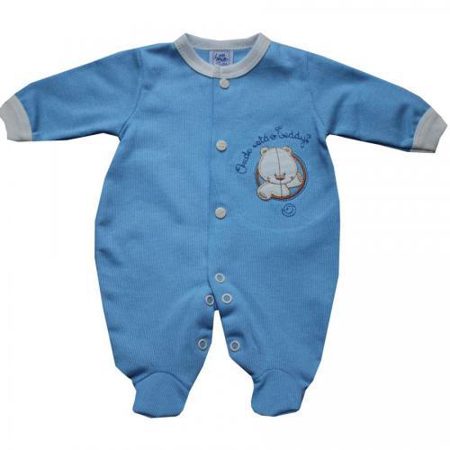 6cb1faf47 Roupa Bebê Prematuro Menino com Bordado Azul.