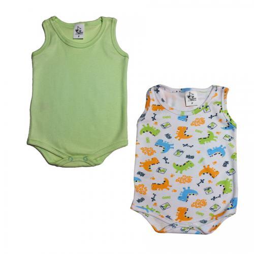 341988ccc Roupa Body Regata Bebê Básico Verde Estampado Tamanho P ao G